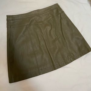 Abercrombie & Fitch faux leather mini skirt
